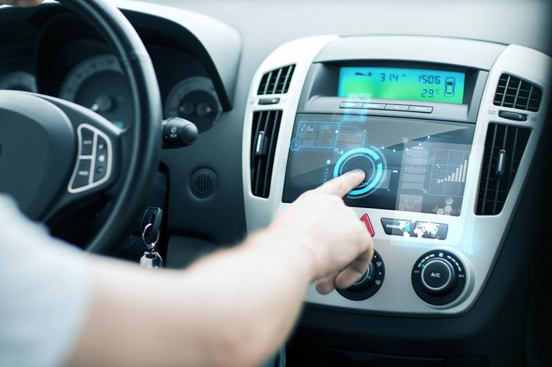 GPS Screen in Car